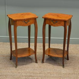 Pair Of Vintage Kingwood Antique Side Tables