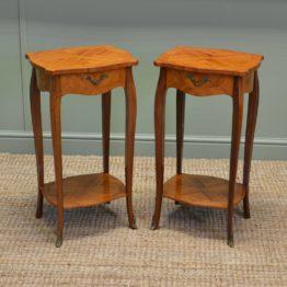 Pair Of Vintage Kingwood Antique Side Tables