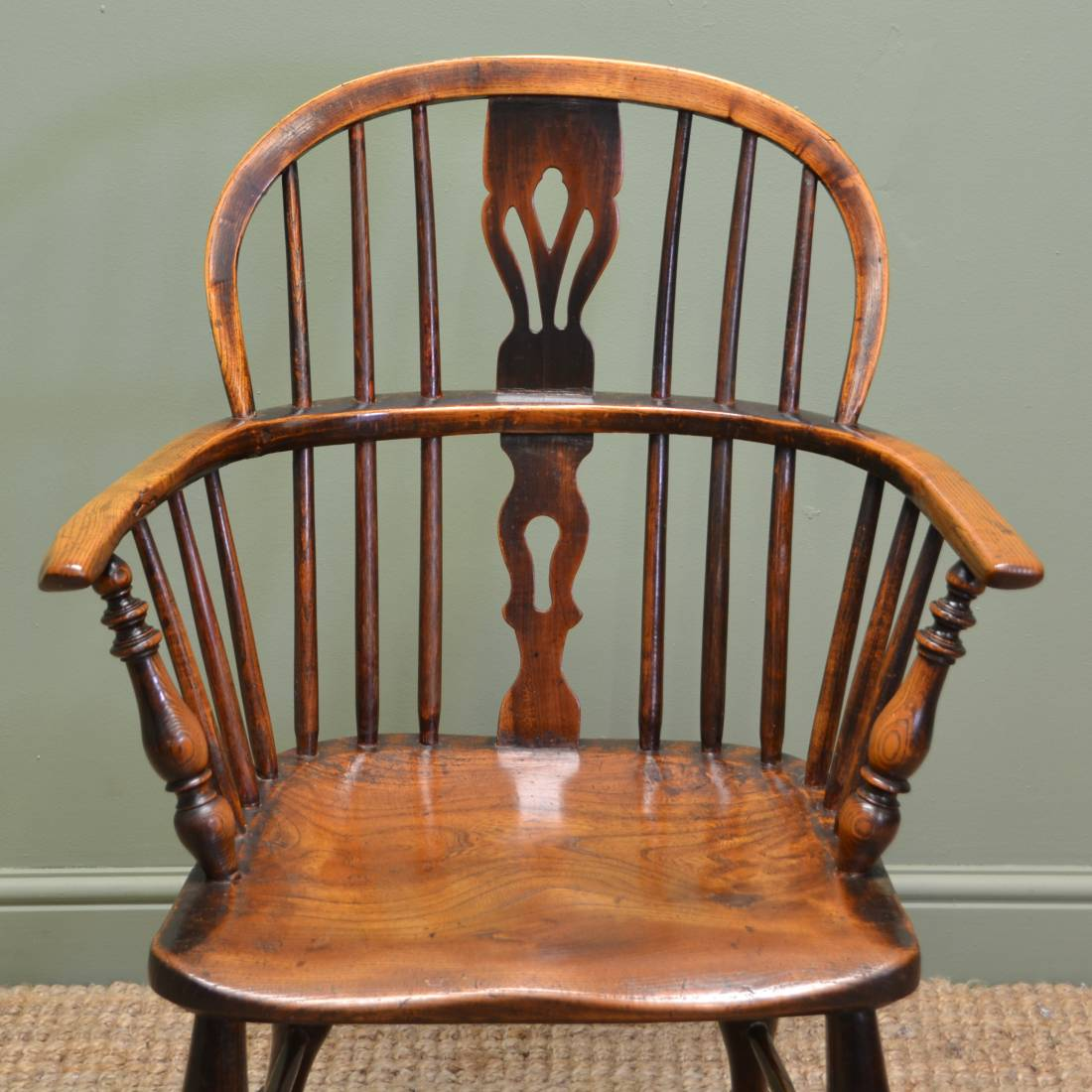 Georgian Ash & Oak Antique Windsor Chair