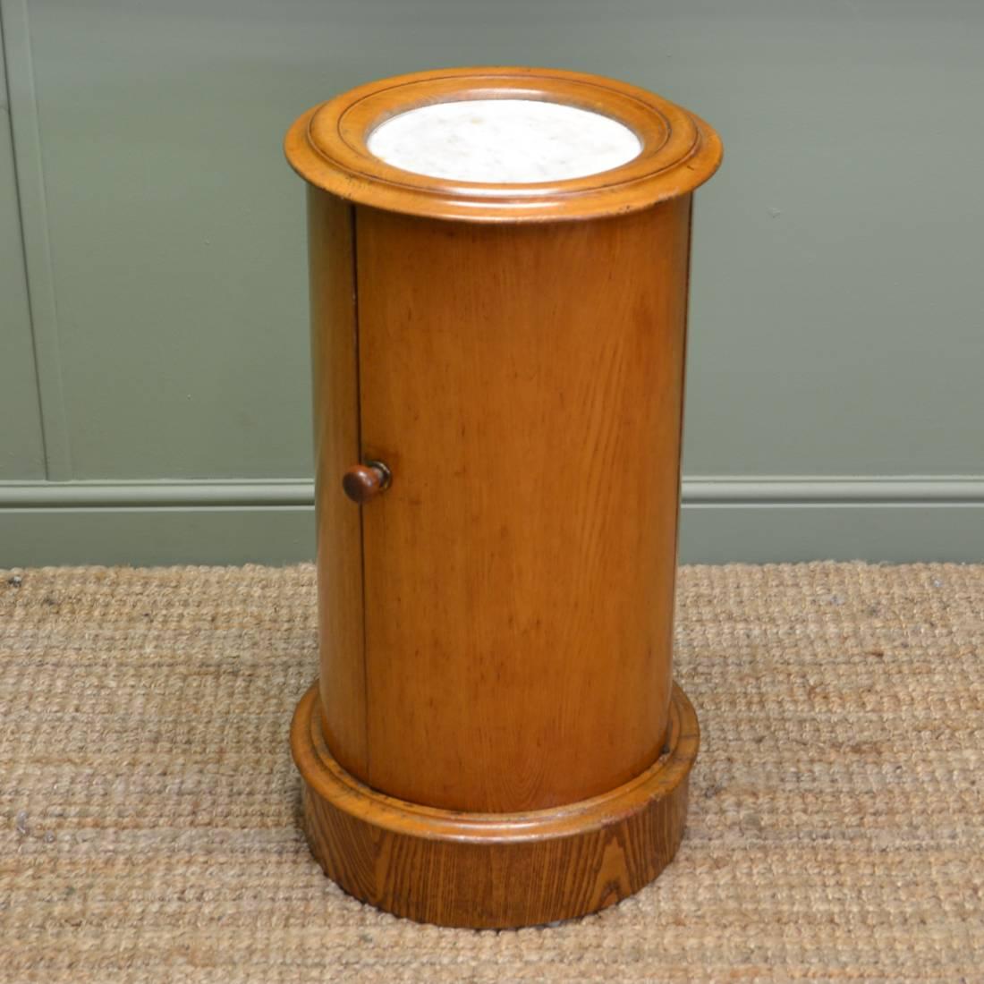 Unusual Victorian Ash Cylindrical Antique Pot Cupboard
