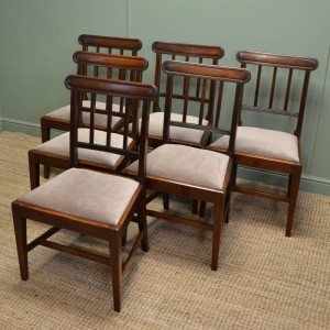 Quality Set Of Six Solid Mahogany Regency Antique Dining Chairs