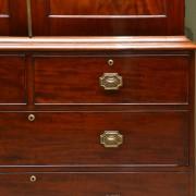 Fine Regency Figured Mahogany Antique Linen Press