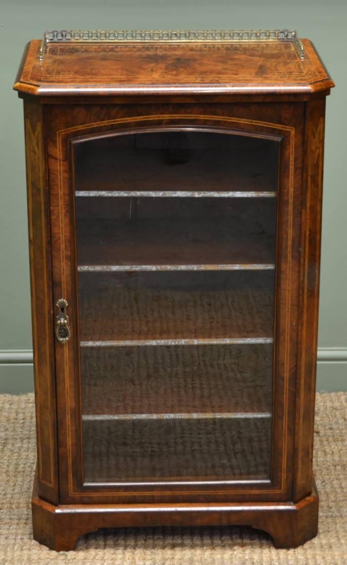 Antique Walnut Victorian Music Cabinet