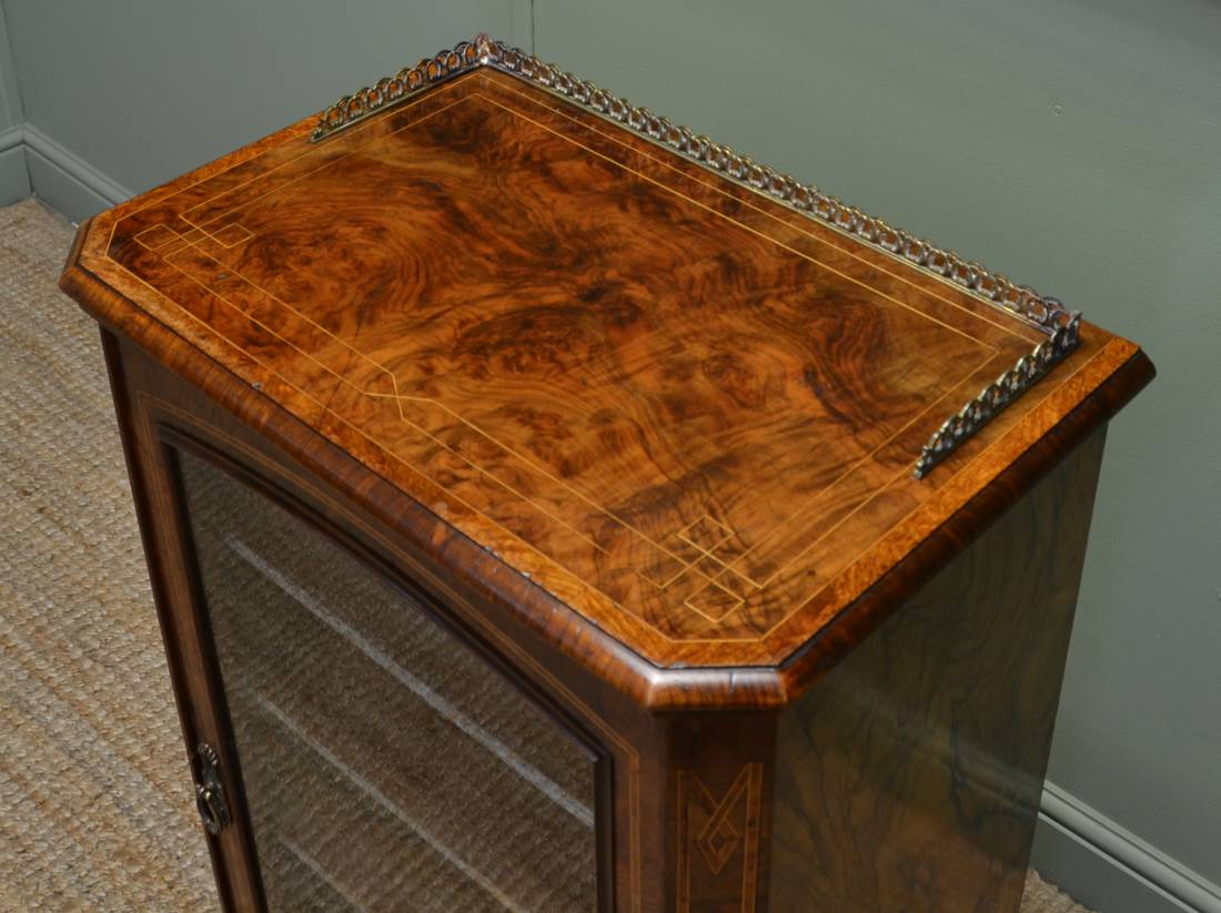 Victorian Music Cabinet - inlay details