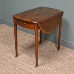 Fine Regency Small Mahogany Drop Leaf Dining Table