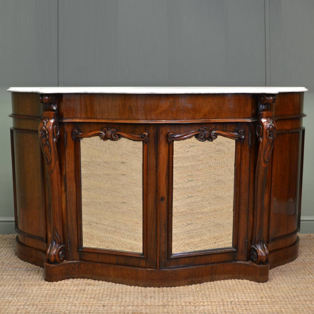 Magnificent Quality Figured Rosewood Victorian Antique