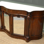 Magnificent Quality Figured Rosewood, Victorian Antique Credenza