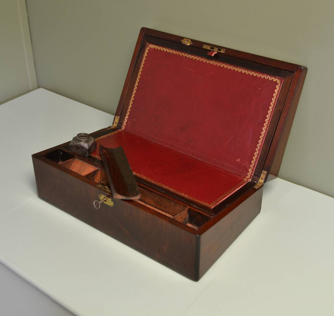 Rich Victorian Mahogany Antique Writing Slope