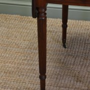 Fine Regency Gillows Small Drop Leaf Mahogany Dining Table