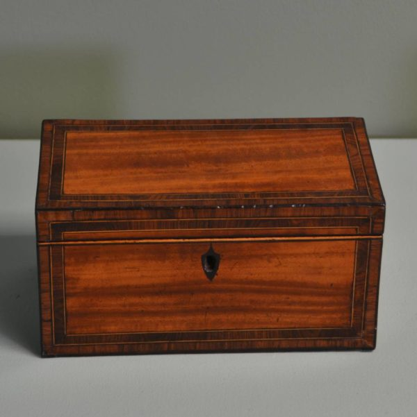 Fine Regency Satinwood Antique Tea Caddy