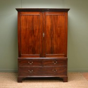 Fabulous Quality Georgian Mahogany Antique Linen Press