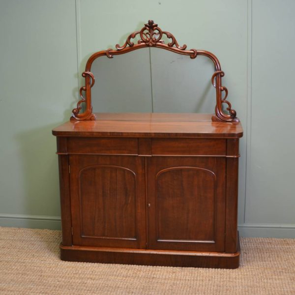 Superb Quality Victorian Antique Mahogany Chiffonier / Sideboard
