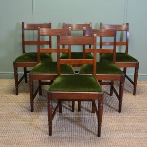 Set Of Six Fine Quality Regency Mahogany Antique Dining Chairs