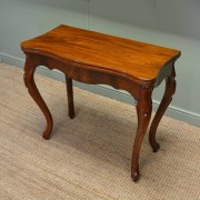 Fine Quality Victorian Figured Mahogany Console / Tea Table
