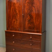 Quality Figured Mahogany Antique Regency Linen Press