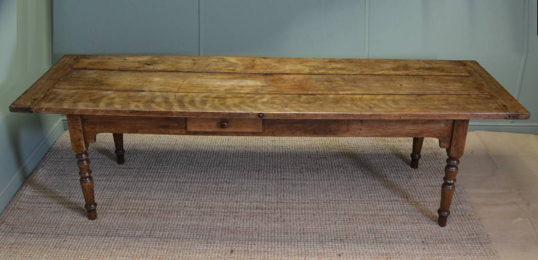 Huge 9 Ft Long Victorian French Country Farmhouse Antique Kitchen Table Antiques World