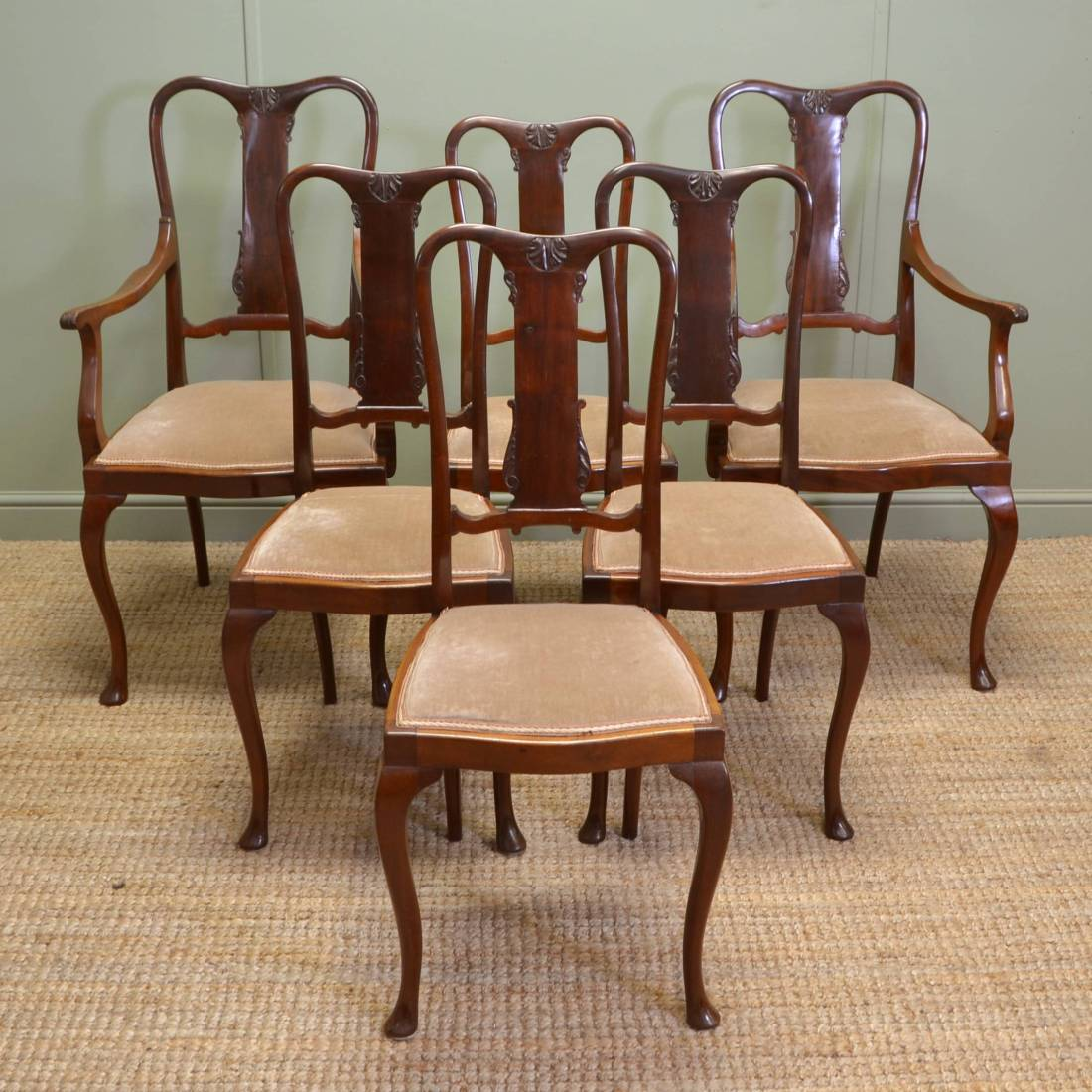 Fine Dining Chairs: Quality Set Of Six Fine Antique Edwardian Dining Chairs