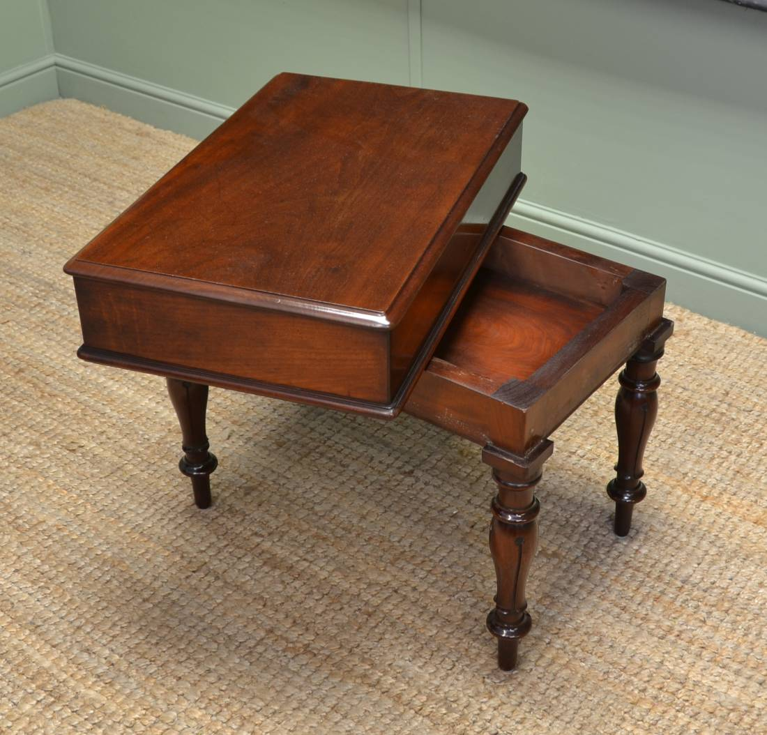 Unusual William IV Quality Mahogany Antique Small Coffee Table