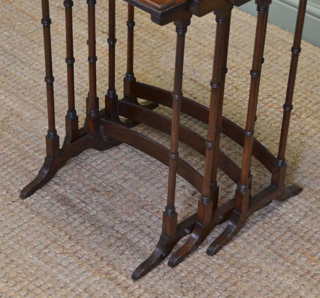 Quality Edwardian Mahogany Antique Nesting Tables