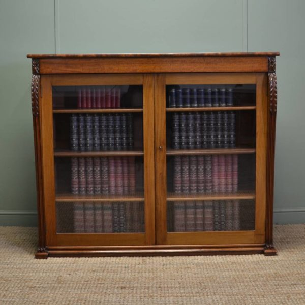 Magnificent Quality Victorian Antique Mahogany Glazed Bookcase