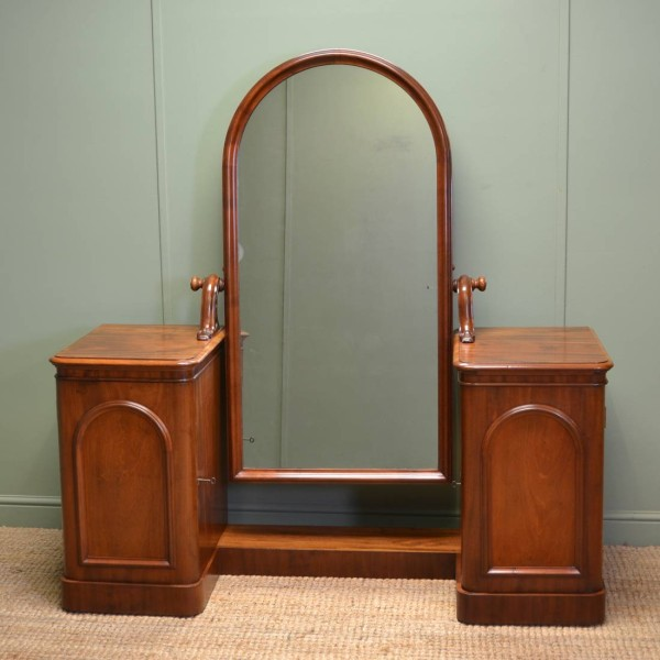 Magnificent Quality Unusual Elegant Victorian Cheval Mahogany Dressing Table
