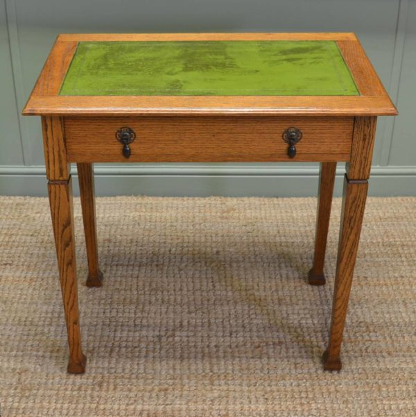 Quality Golden Oak Antique Writing / Hall Table