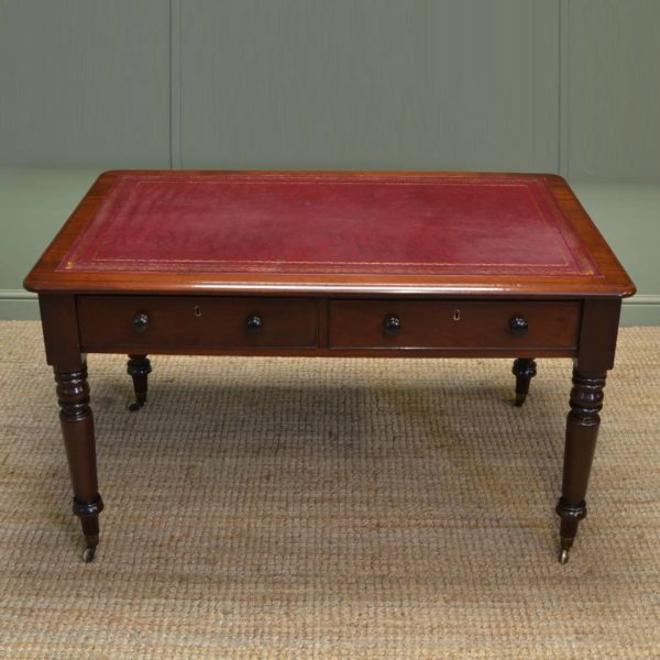 Fine Quality Regency Antique Partners Writing Table / Desk