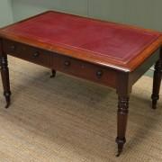 Fine Quality Regency Antique Partners Writing Table / Desk