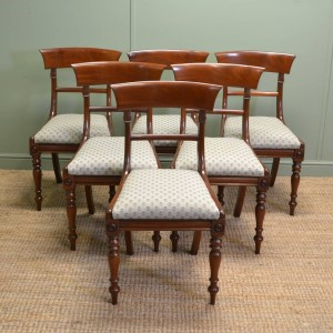 Fine Set of 6 Regency Mahogany Antique Dining Chairs