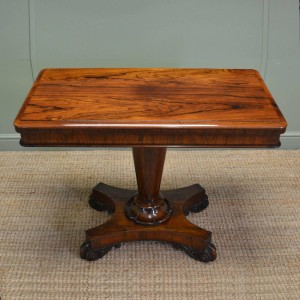Beautifully Figured Warm Rosewood Regency Antique Card / Console Table