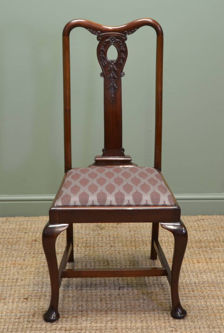 Stunning Set Of Six Solid Mahogany Antique Edwardian ...
