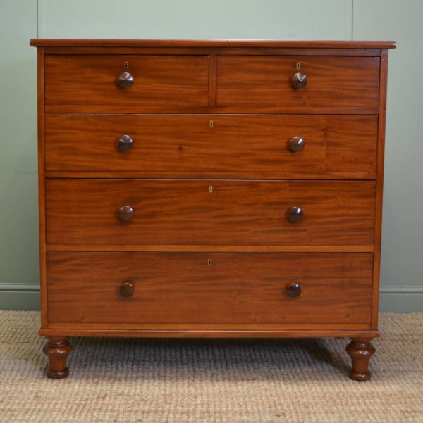 Spectacular Figured Mahogany Victorian Antique Chest Of Drawers