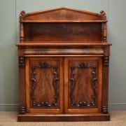 Beautifully Figured Victorian Mellow Mahogany Antique Chiffonier / Cupboard