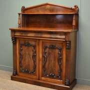 Beautifully Figured Victorian Mellow Mahogany Antique Chiffonier / Cupboard