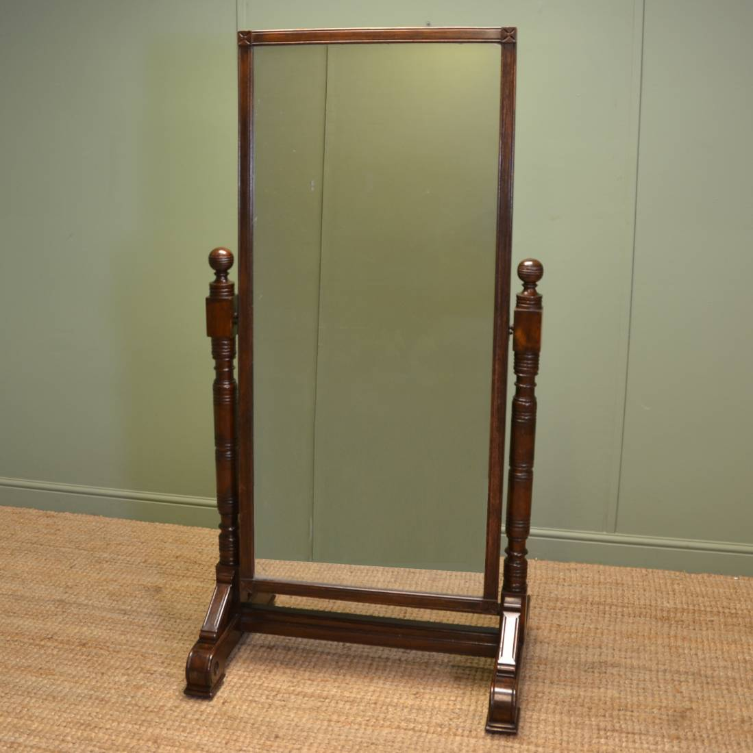 Arts and crafts mirrors - Arts And Crafts Victorian Large Ash Antique Cheval Mirror