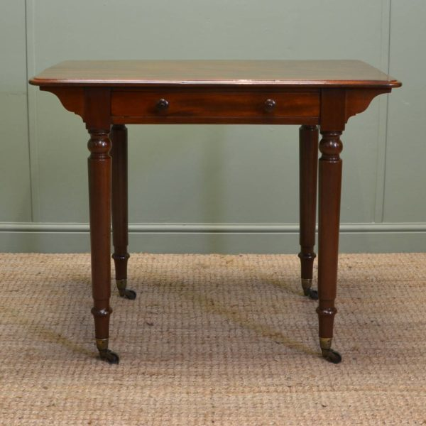 Stunning Holland And Sons Antique Victorian Writing Side