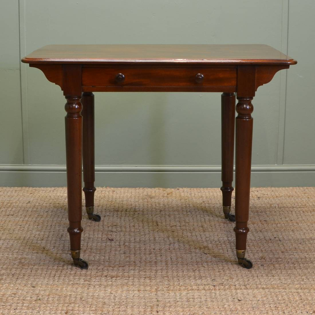 Stunning Holland And Sons Antique Victorian Writing / Side Table
