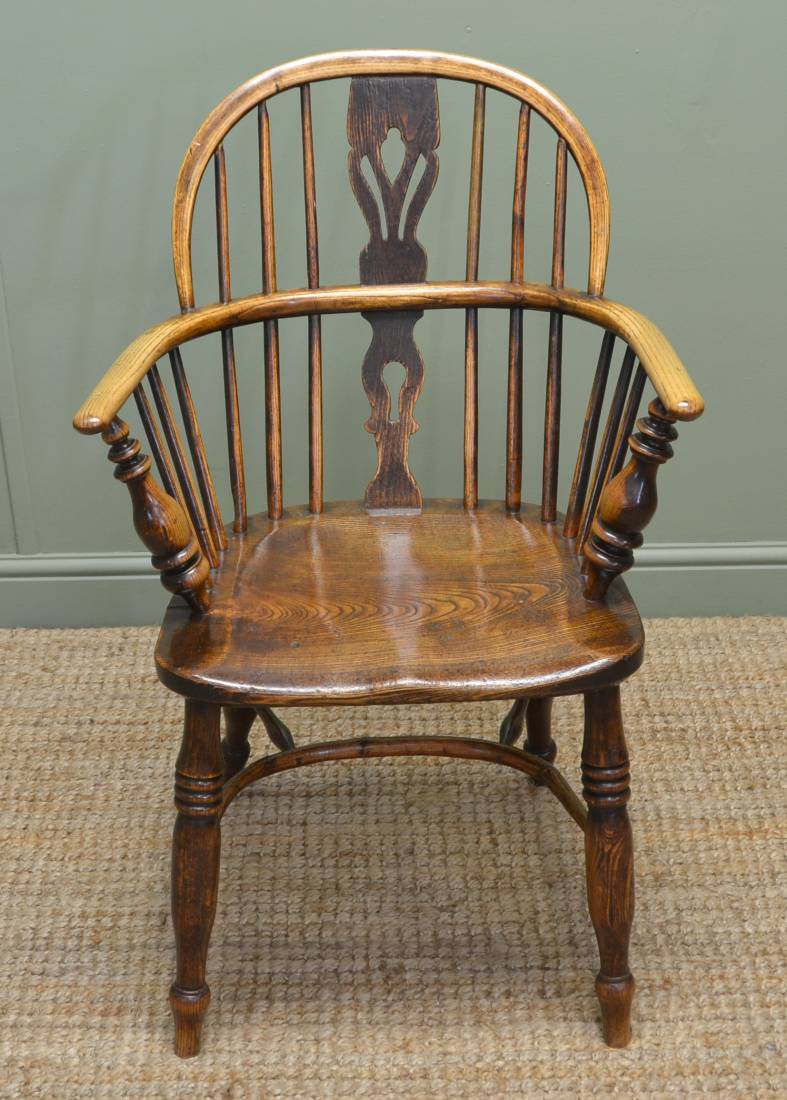 Country Georgian Antique Ash And Elm Windsor Chair