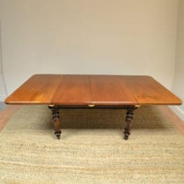 Spectacular Large Figured Mahogany Victorian Antique Dining Table.