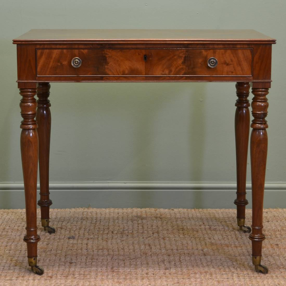 Fine Quality Regency Mahogany Antique Writing / Side Table