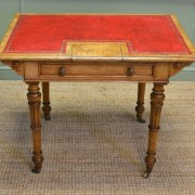 Spectacular John Taylor & Son Antique Victorian Burr Ash Writing Table