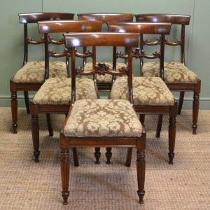 Quality Set Of Six Gillows Design William IV Antique Rosewood Dining Chairs