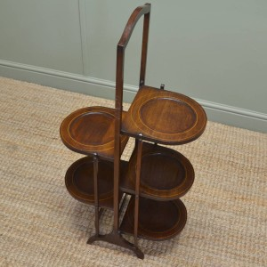 Quality Mahogany Antique Edwardian Cake Stand