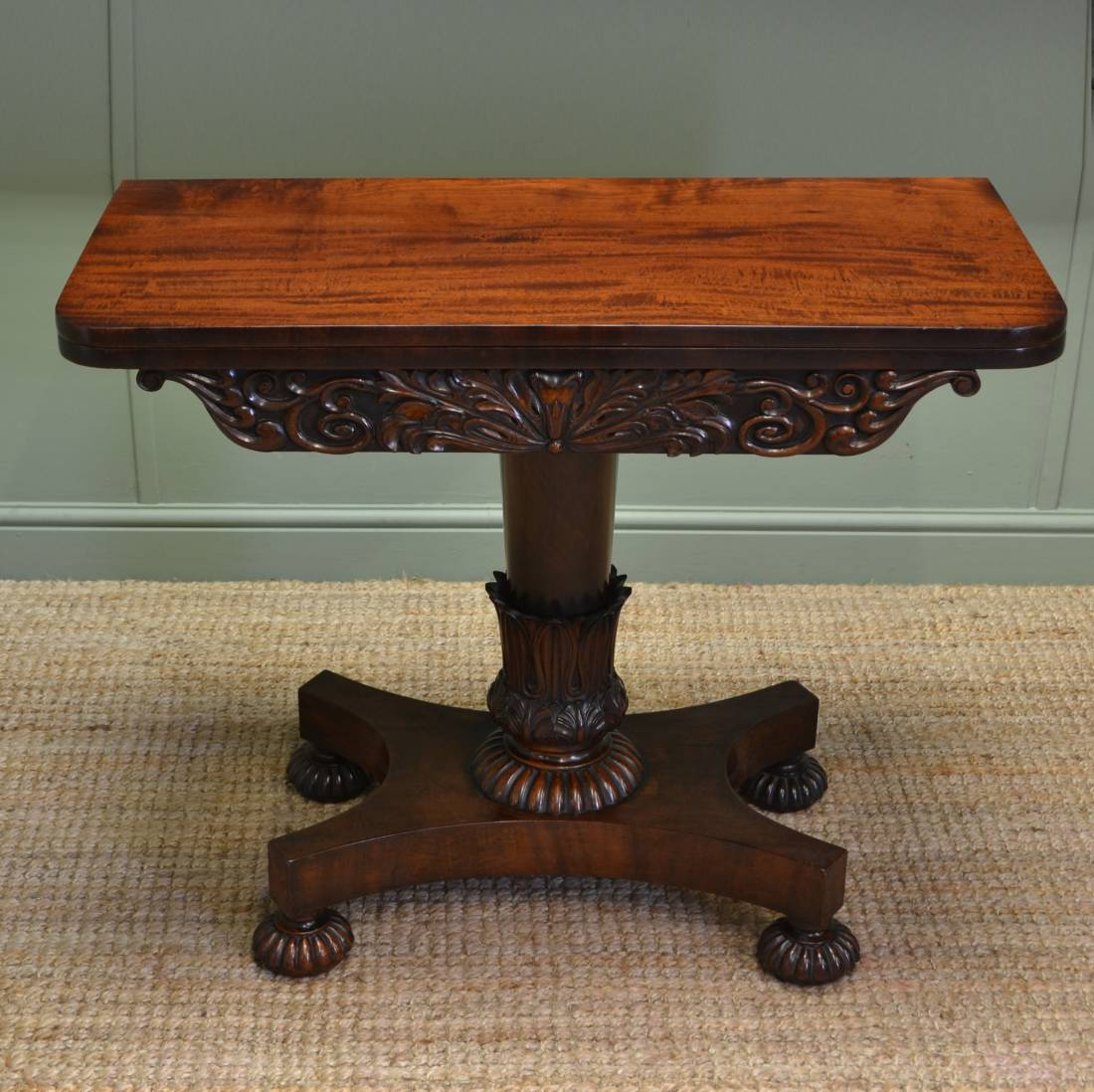 Spectacular Gillows Mahogany Antique Regency Games / Side Table