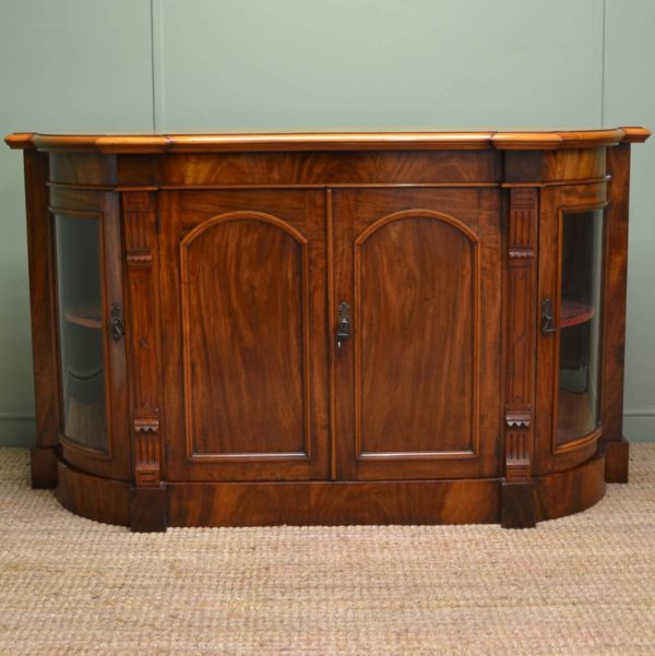 Quality Figured Victorian Mahogany Antique Credenza