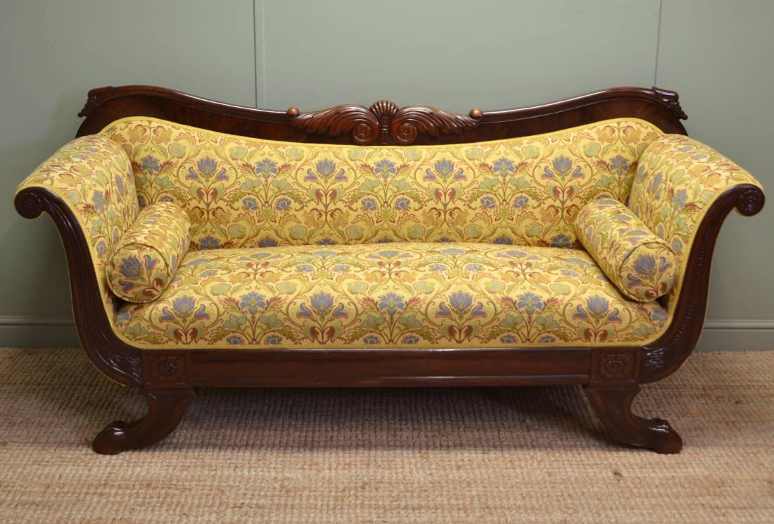 Regency Mahogany Sofa / Settee ca 1820
