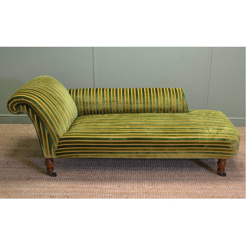Quality oak victorian antique chaise lounge antiques world for Antique wooden chaise lounge