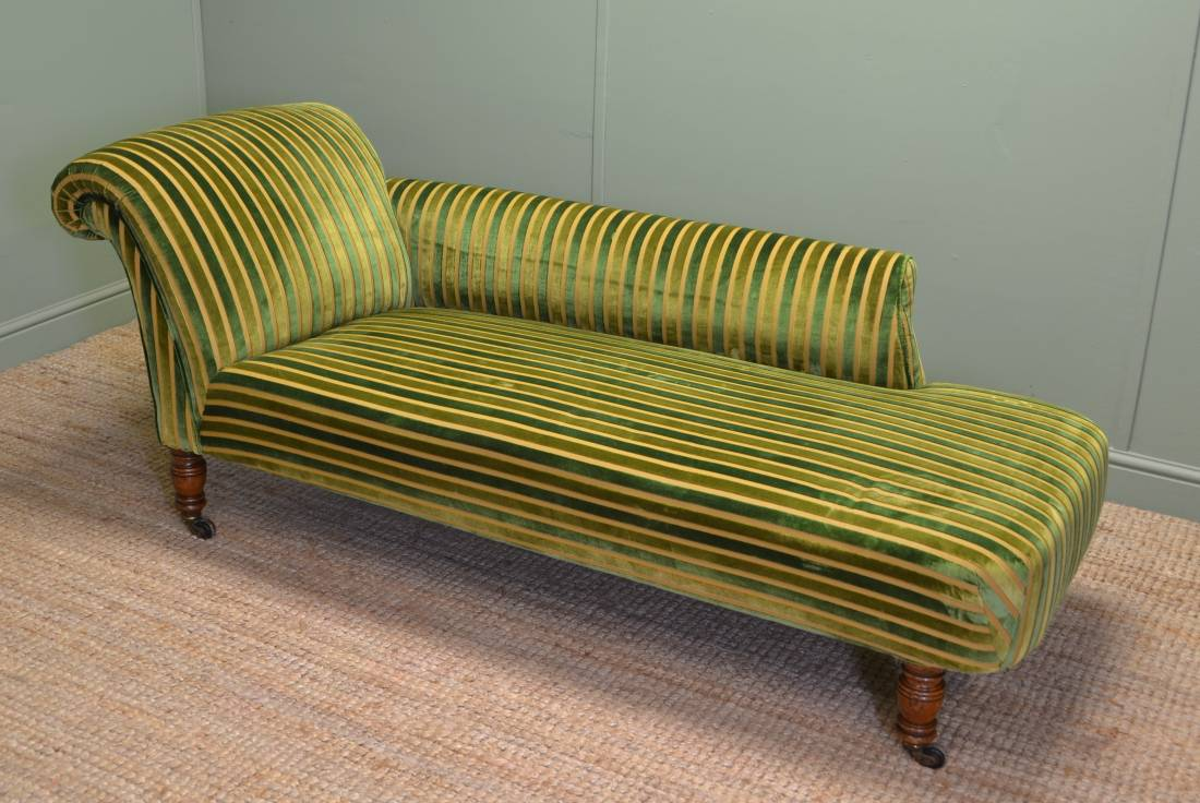 Quality oak victorian antique chaise lounge antiques world for Chaise antique furniture