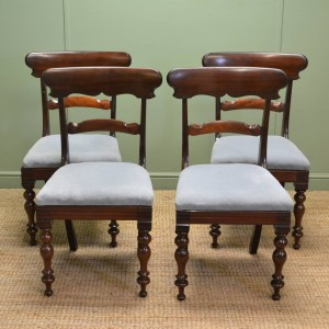 Quality Set Of Four William IV Antique Mahogany Dining Chairs