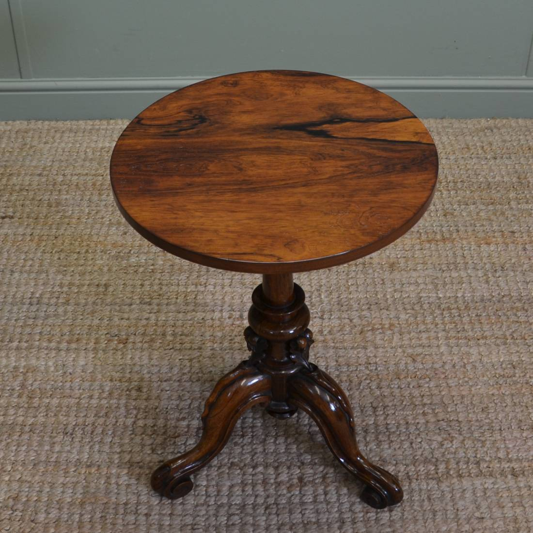 Small Figured Rosewood Victorian Wine Table